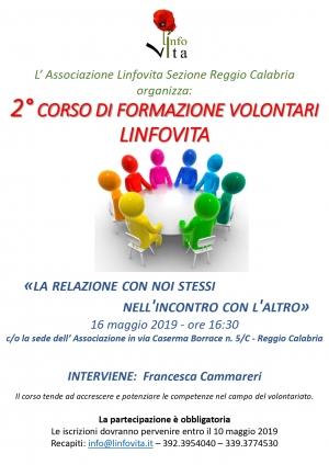 2° Corso di Formazione Volontari Linfovita